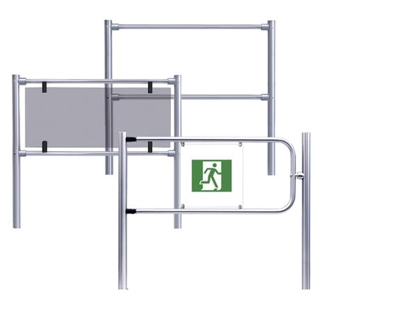 Modulares Geländersystem ID RAILING aus Edelstahl und getöntem Glas