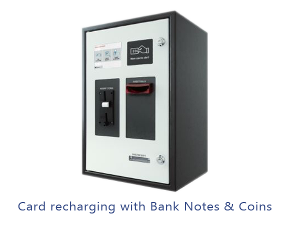Card Recharging with Bank Notes and Coins
