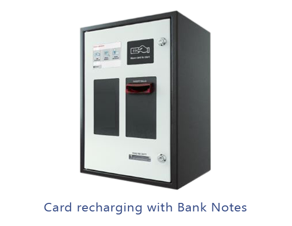 Card Recharging with Bank Notes